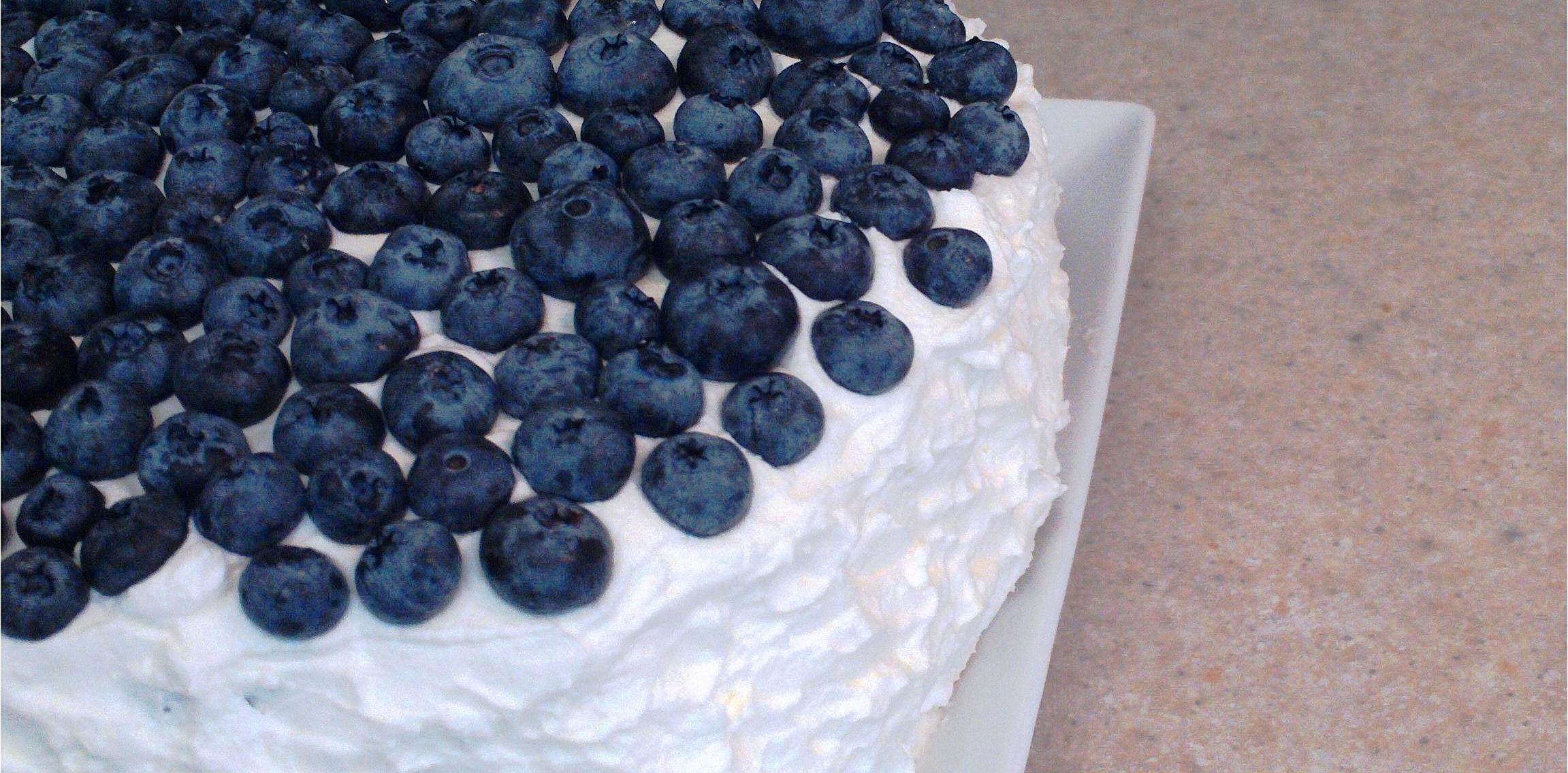 Fresh Blueberry Whipped Cream Cake | Cake and Cocktails
